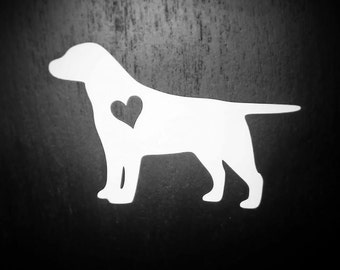 Labrador Decal, Labrador Retriever, Yellow Lab, Laptop Decal, Dog Decal, Dog Sticker, Yeti Decal, Pet Accessories, Vinyl, Ipad Decal
