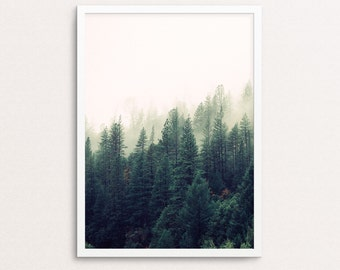 Nature Wall Art, Tree Print, Tree Art, Nature Print, Nature Photography, Nature art, Tree Photography, Forest Print, Forest, Foggy, Trees