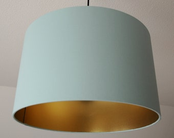 "Lampshade ""Mint-Gold"""