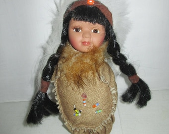 American Native American Doll in Moccasin  Shoe