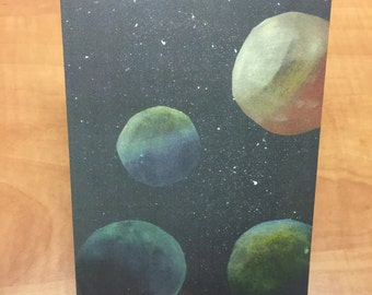 Planet/Solar System Greeting Card - by Inspiration Studio Artist