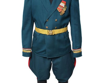 Soviet Army Russian General parade uniform of ground troops USSR