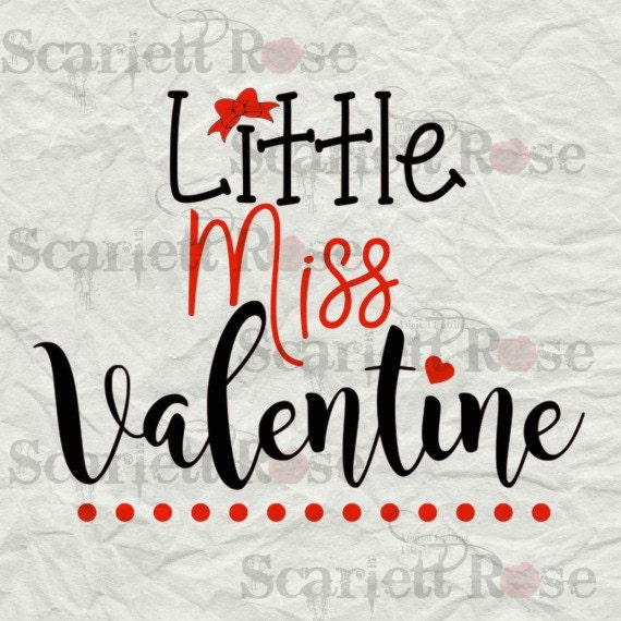 Little Miss Valentine SVG cutting file clipart in svg jpeg