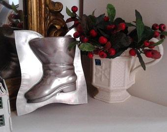 Stamp Metal boot Vintage Chocolate boot