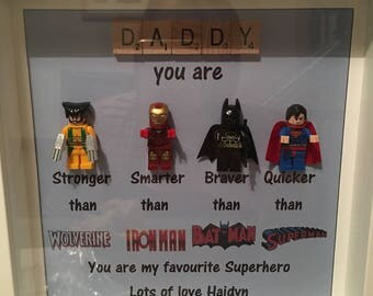 Fathers Day Hero Scrabble Frames