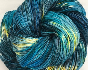 Starry Night - Superwash Blue Faced Leicester 4 Ply 100g