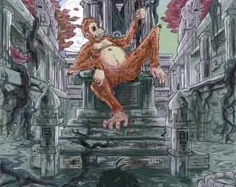 King Louis - Jungle Book - A4 Digital Print