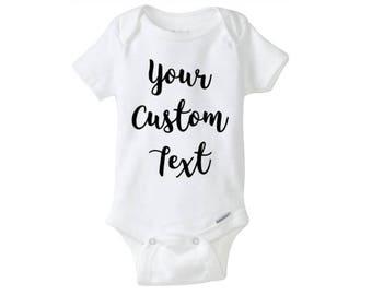Your custom text custom bodysuit saying - unlimited options!