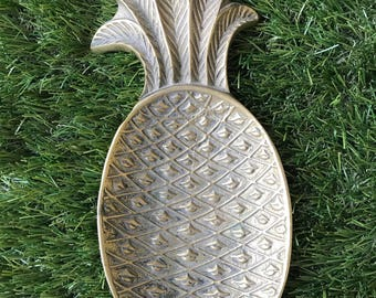 Vintage Brass Pineapple Trinket Tray, Vintage Brass Pineapple Soap Dish, Vintage Brass Pineapple Change Tray, Vintage Brass Pineapple Tray