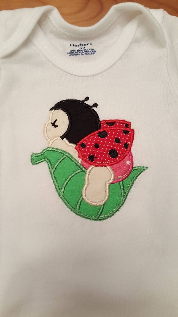 Sleeping Lady Bug Onesie T Shirts Applique Baby Clothes 60 Off