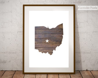 United States Map Etsy - Print us state map