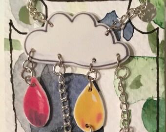 Rainbow Rain necklace