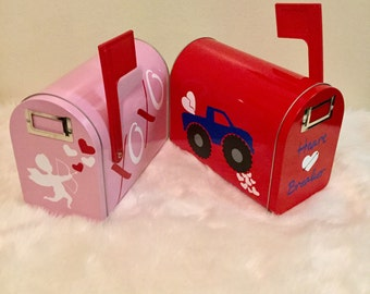personalized valentines day mailbox girl and boy valentines day mailboxes - Valentine Mailboxes