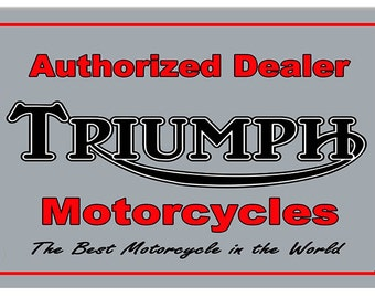 Vintage Style Triumph Motorcycles - Best in the World Metal Sign