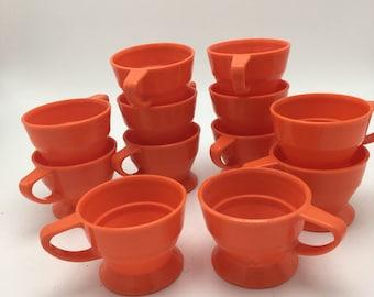 Vintage orange solo cup plastic holders