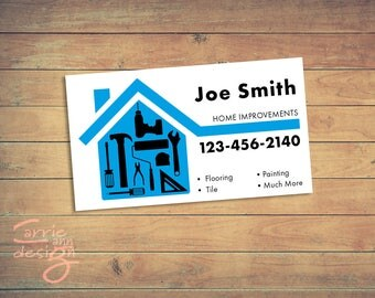 Home Improvements, Handyman, Business Cards, Print, Download