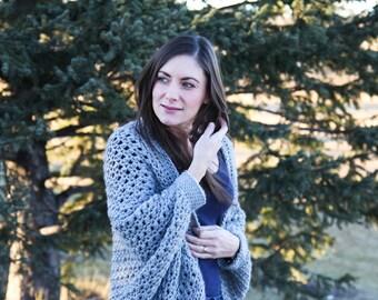 Oversized Sweater PATTERN: Cocoon Sweater, Sweater Crochet Pattern, Crochet Shrug, Crochet Pattern, The Causeway, WeeYarn