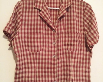 Checkered fitted shirt