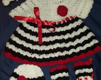 "Hand crocheted dress/clothes for 19-21"" reborn or similar doll"