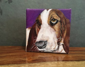 Custom hand-painted pet portraits on canvas