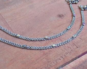 Tribal Anklets | Oxidized Silver Anklets | Anklets for Girls | Christmas Gift Anklets | Boho Banjara Anklets | Indian Jewelry Anklets | A49