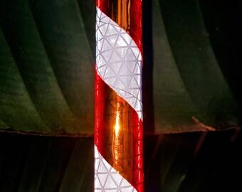"Reflective Hula Hoop ""Sunburst Stripe"" - Collapsible Polypro or HDPE"