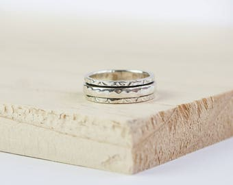 UK N US 7 Aibileen Spinning Ring, Sterling Silver, Spinner Ring, Anxiety Ring, Fidget Ring, Worry Ring, Meditation Ring, Fidget Jewelry,