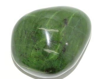 "Jumbo-SIZE 3.40""  Polished Genuine  Nephrite Jade  Palm  THERAPY STONE #2"