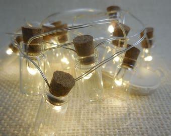 Fairy Mason Jar Lights, Tiny Lights with Glass Jar, Light Fairy Accessory, Mason Jar Lights, Terrarium Lights, Fairy Garden