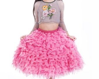 TUTU, pink skirt, Princess skirt, HAUTE COUTURE ball skirt, birthday skirt