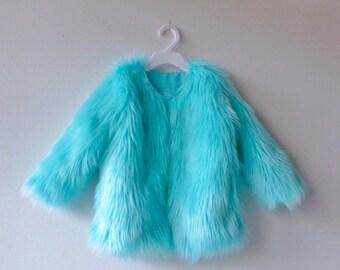 Fur Coat Aruba Blue