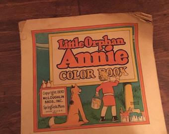 Vintage 1930's Little Orphan Annie Color Book