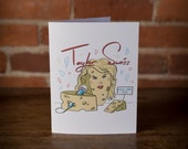 Taylor Swiss Greeting Card - Birthday, Pop Culture, Taylor Swift, funny, punny, cheese, foodie, laugh, instagram, swiss, singer, music