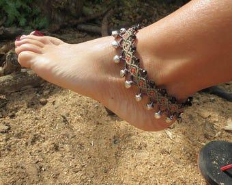 Macrame, macrame anklet ankle