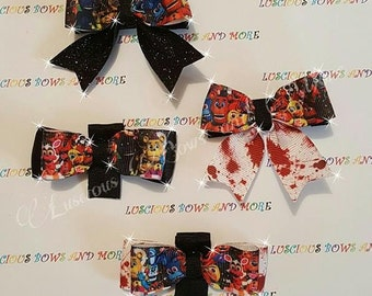 FNAF Hair Bow, FNAF Bow Tie, FNAF Hair Bow Party Favor, Five Nights at Freddys Bow Ties, Five Nights at Freddys Party Supplies, Fnaf