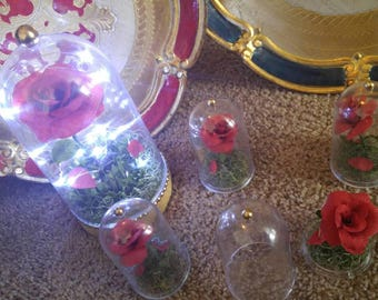 Beauty and the beast inspired centerpiece and party favor. Beauty and the beast rose dome