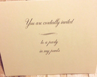Naughty Card - Funny birthday Card -Naughty Cards - Naughty Birthday - Card For Boyfriend - Card For Him - For Husband - Dirty Cards -