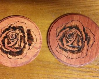 Mini Rose Coasters
