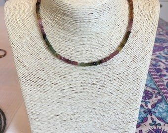 watermelon tourmaline choker