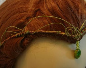 "Headpiece-Crown-Fairy-Elven-Woodland-Tiara-Headpiece-Renaissance-""Talya"""