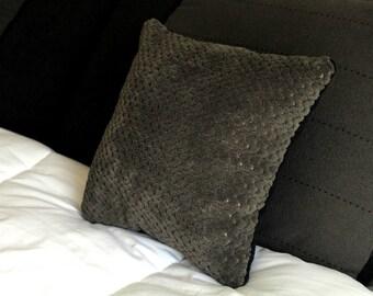 Fluffy Soft Pillow #2 Grey/Dark Blue
