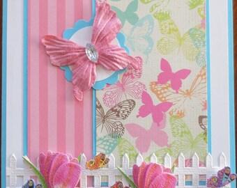 Butterfly - Blank - Handmade Card
