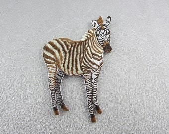 Zebra Embroidery Patches, Horse with Iron on Backing