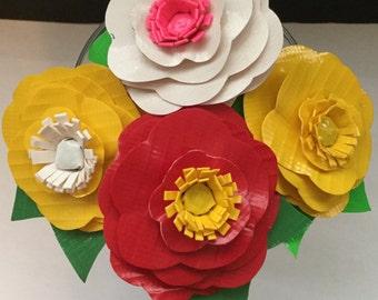 Duct Tape  Poppy Flower Pen