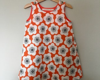 Orange poppy dress