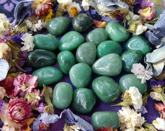 Green Aventurine - Abundance, Luck, Emotional Healing of the Heart Chakra; Highly-Charged Tumbled Crystal