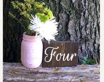 Wedding Table Numbers/Table Numbers/Wood Table Numbers/Summer wedding/Fall wedding/Winter wedding/Rustic table numbers/Any Function