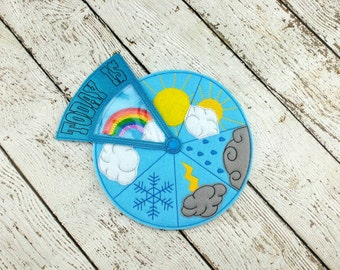 Weather Wheel - Educational - Weather Teaching Tool - Circle Time Weather - Preschool Weather - Early Childhood Education