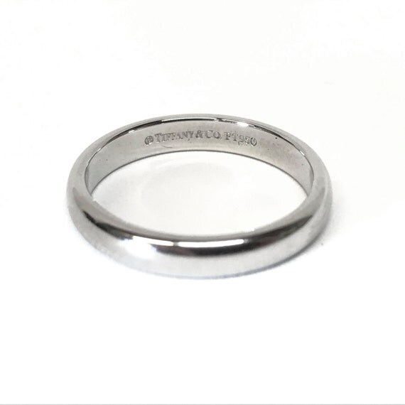 Tiffany & Co PLATINUM Wedding Band Promise Stacking Ring Size