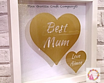 Mum Heart Frame - Mothers Day / Birthday